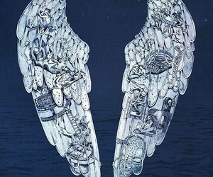coldplay, wings, and angel image