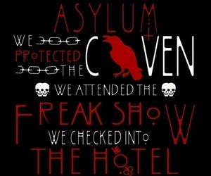 ahs, coven, and freak show image