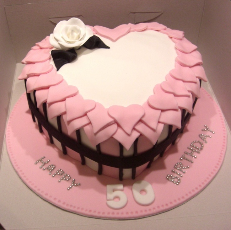 Peachy Bday Heart Cake Design Pics On We Heart It Personalised Birthday Cards Veneteletsinfo