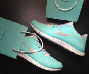 mint green, nike, and shoes image