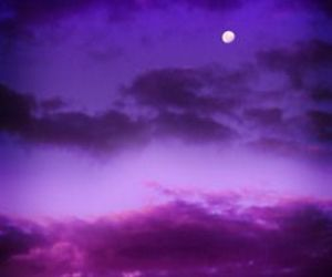 sky, moon, and purple image