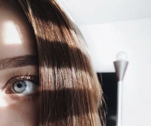 girl, eye, and hair image