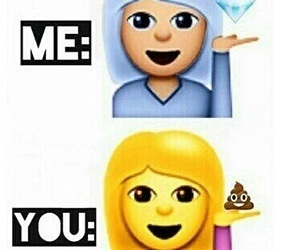 me, you, and emoji image