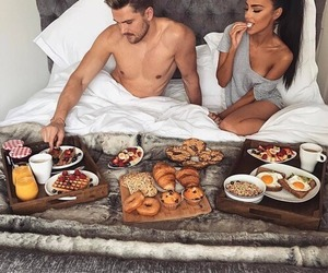 couple, love, and breakfast image