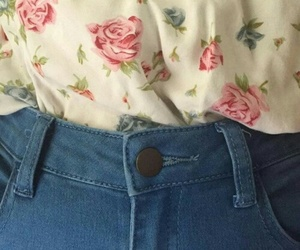 clothes, floral, and outfit image