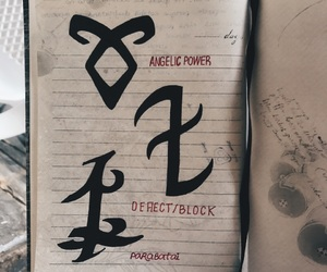 book, rune, and series image