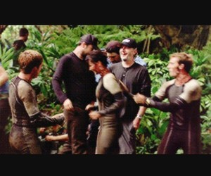 behind the scene, Jennifer Lawrence, and josh hutcherson image
