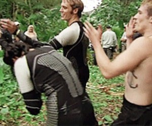 behind the scene, Jennifer Lawrence, and hunger games image