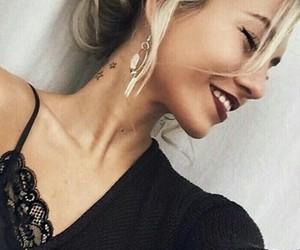 beautiful, black, and make up image