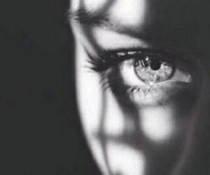 black and white, eye, and photography image