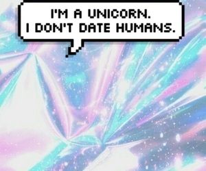 unicorn, wallpaper, and holographic image