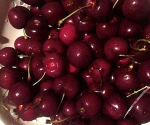 cherries, lady woman women, and fitness image
