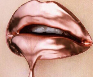 lips and rose gold image