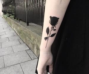 black, fashion, and tattoo image