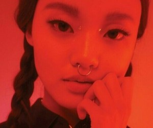 asian, girl, and red image