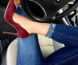 shoes, jeans, and fashion image