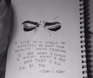 drawing, eyes, and quotes image
