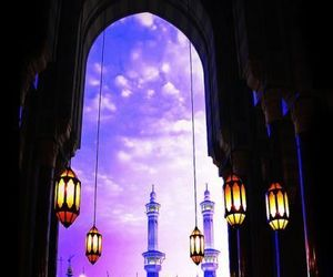 islam, light, and purple image