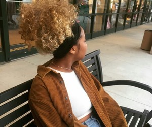 beauty, blonde, and curly hair image