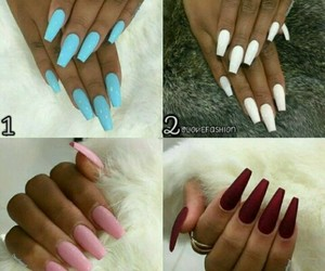 nails, style, and diseños image
