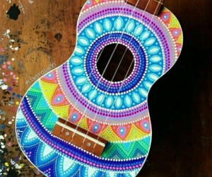 colors, guitar, and music image