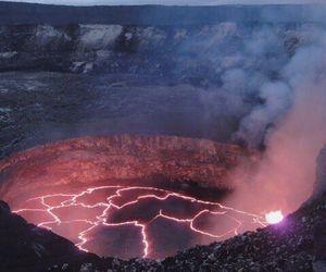nature, volcano, and grunge image