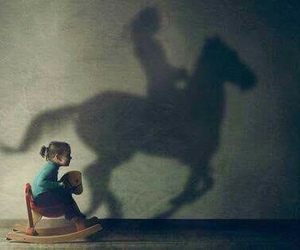 horse, Dream, and child image