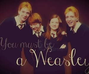 harry potter, fred and george, and ginny weasley image
