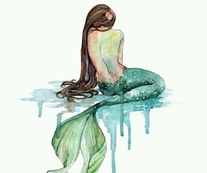 art, mermaid, and featureme image