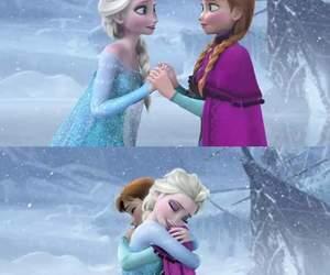 anna, hug, and sisters image