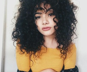 curls and girl image