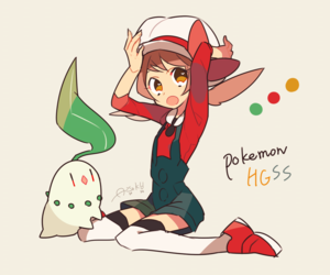 lyra, pokemon, and chikorita image