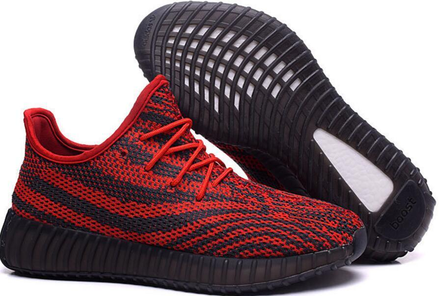 Mens Adidas Yeezy Boost 550 Red White