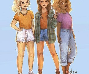 percy jackson, piper mclean, and hazel levesque image