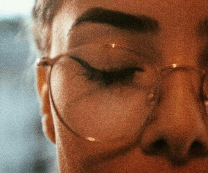 glasses, vintage, and makeup image