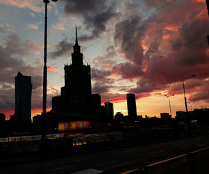 colorful, sky, and warsaw image