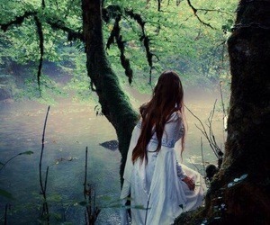 fantasy, forest, and dress image