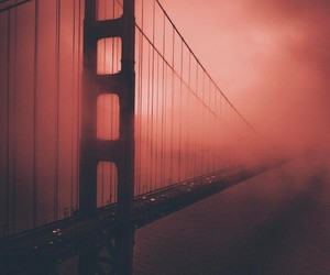 red, bridge, and travel image