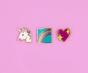 unicorn, flowers, and rainbow image