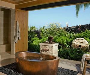bathroom, inspiration, and tropical image