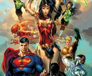 justice league, comic, and DC image