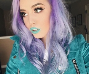 violet hair, youtuber, and hailie barber image