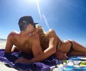 bikini, couples, and summer image