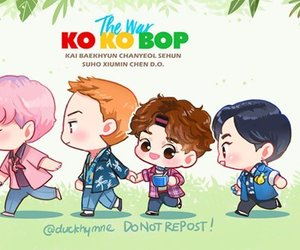 exo, kokobop, and fanart image