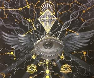 art, eye, and psychedelic image