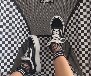 vans, aesthetic, and black image