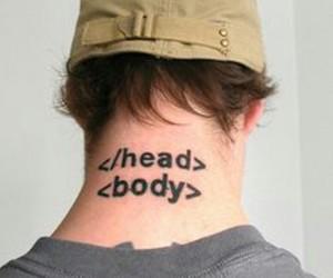 tattoo, head, and html image