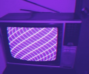 tv, aesthetic, and purple image