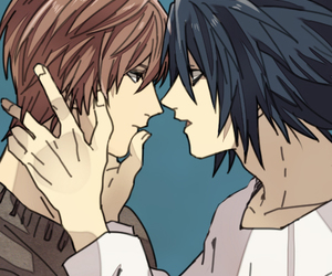 Boys Love, light yagami, and death note image