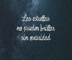 frases, stars, and oscuridad image